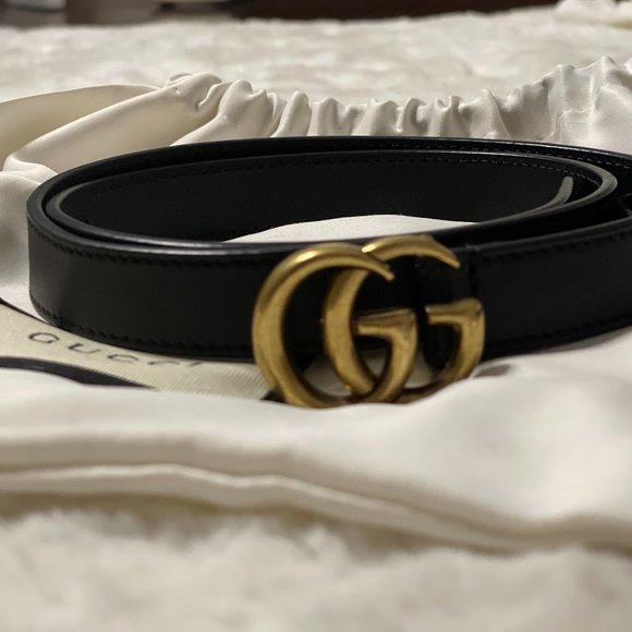 A Double G Belt Gucci